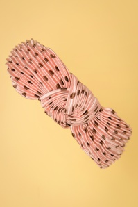 50s Wanita Polka Dot Hairband in Pink