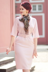 Closet London 29033 Rolled Collar Pink Pencil Dress 20190121 020i