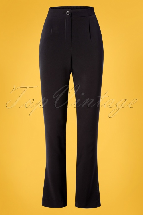 Mademoiselle Yeye 27053 Best Black Trousers 20190314 002W