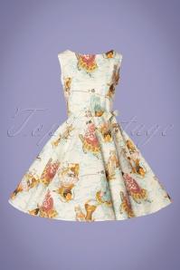Victory Parade 30026 Rosa Feline Bow Swing Dress 20190314 002W