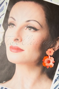 Darling Divine 28992 Earrings Oorbellen Orange Flower 20190313 002W