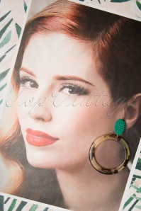 Darling Divine 28985 Earrings Oorbellen Shell Green Hoops 20190313 010 W