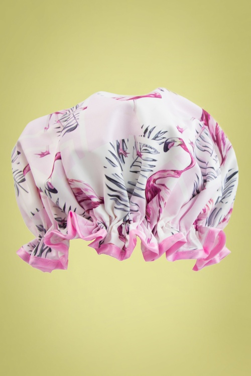 Vintage Cosmetics 29692 Shower Cap Pink Flamingo 20170703 001