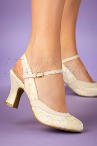 Ruby Shoo 26768 Lucia Cream Lemon Mary jane Pump 20190205 006W