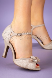Ruby shoo 26780 Clarissa peeptoe Cream Gold Pump 20190205 006W