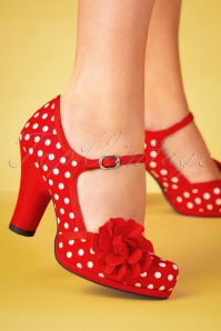 Ruby shoo 26781 Hannah Red spots Mary Jane 20190205 011W