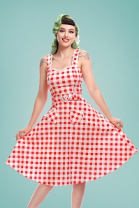 Collectif Clothing 27630 Violetta Vintage Gingham Swing Skirt 20190304 1