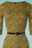 Vintage Chic 29213 Mustard Pencil Leopard Yellow 20190206 003V