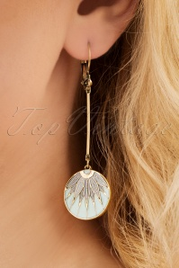 Emma Leaf Drop Earrings Années 70