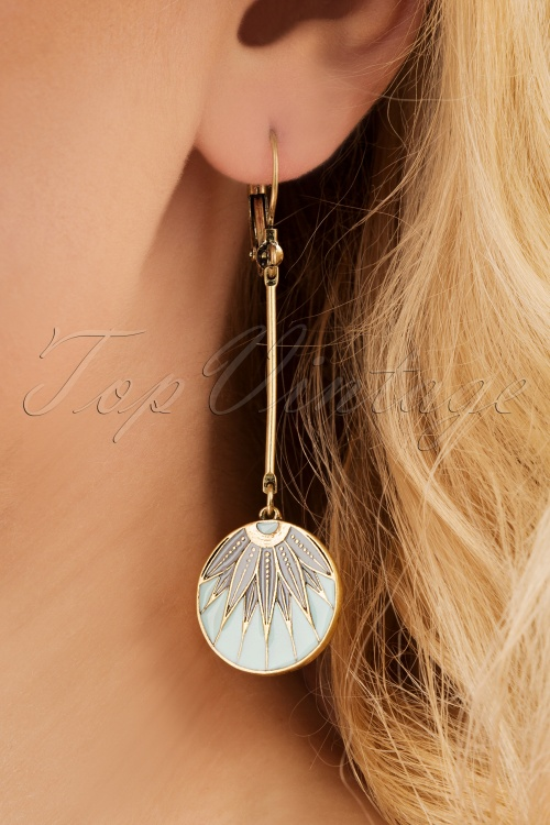 Lovely 28931 Earrings Grey Blue Gold Green 20190228 006