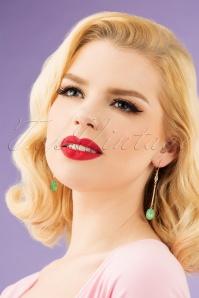 Lovely 28937 Earrings Grey Blue Gold Green 20190228 001