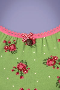 Blutsgeschwister 27307 Green Floral Top 20190315 006W