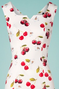 Hearts and Roses 28919 White Cherry Pencil Dress 20190318 001V