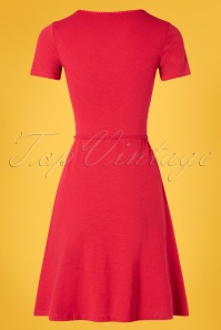 Blutsgeschwister 27295 Festtagstra Red Floral Dress 20190315 009W