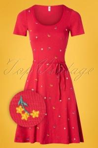 Blutsgeschwister 27295 Festtagstra Red Floral Dress 20190315 003Z
