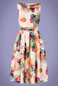 Hearts and Roses 28918 Floral Swing Dress 20190315 003W