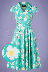 Hearts and Roses 28905 Floral Swing Dress 20190315 005W1