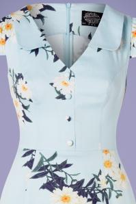 Hearts and Roses 28903 Blue Daisy Pencil Dress 20190315 001V