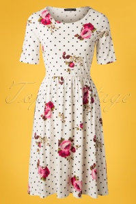 Mika Rose White Polkadot floral Dress 27509 20180927 0004W