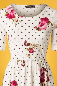 Mika Rose White Polkadot floral Dress 27509 20180927 0004V