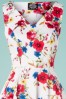 Hearts and Roses 29017 White Floral Swing Dress 20190315 001V
