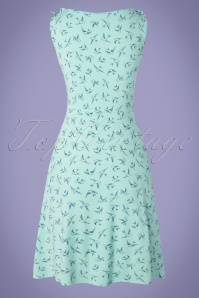 TopVintage Boutique Collection 30039 50s Swallow Dress 20190312 013W