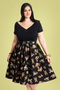 Bunny 28836 Messina 50's Black Swing Skirt 20190205 1