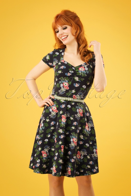 Blutsgeschwister Kze Blue Vagabund Dress In Flowers Mze 60s XkTPZuOi