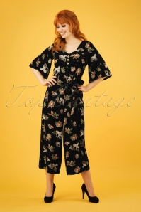 Bunny 70s Messina Jumpsuit in Black