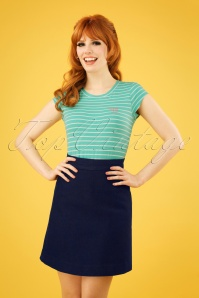 Danefae 60s London Skirt in Denim Blue