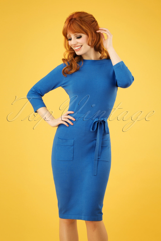 60s Abbey Dress in Palace Blue