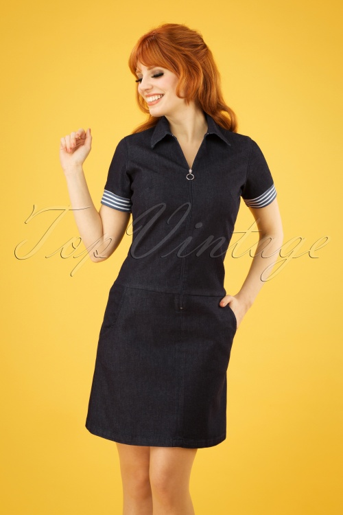Mademoiselle Yeye 27073 Totally Honest Denim Dress 20190218 1W