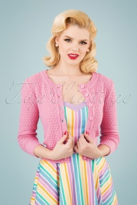 50s Jennie Cardigan in Light Pink