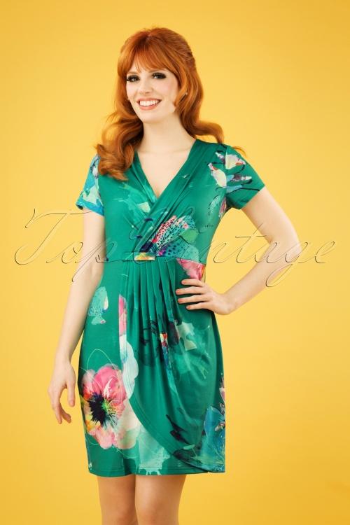 Smash! 27868 Green Floral Pencil Dress 20190220 1W