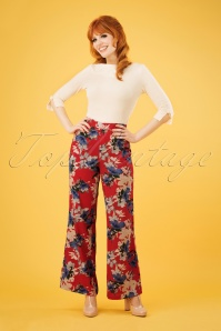 70s Splendour In The Grass Trousers in Red