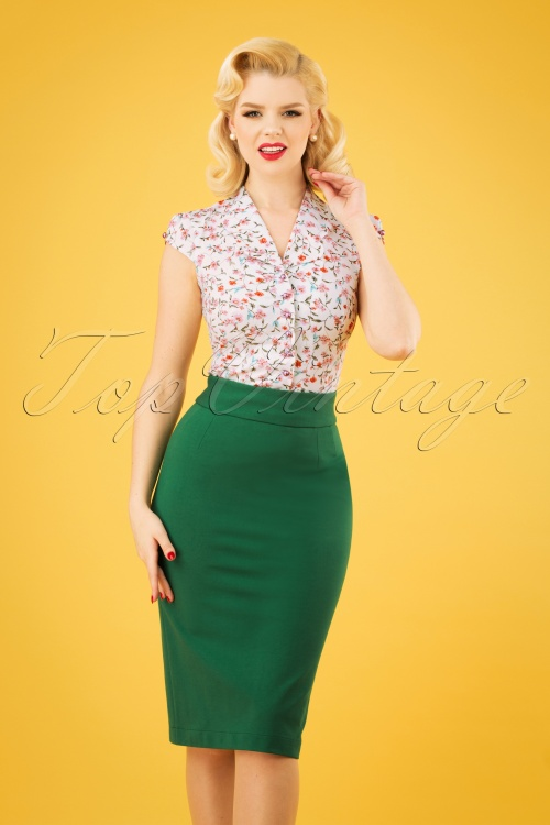 Very Cherry 26997 Pencil Skirt Green 20190212 1W