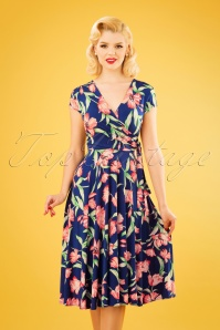Vintage Chic 28776 50s Layla Floral Dress 20190129 1W