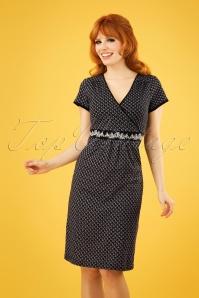 60s La Gitane En Ville Dress in Blue