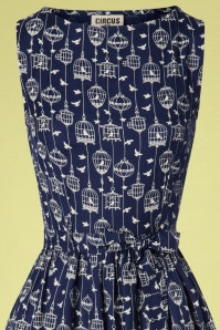Circus 27568 Birdcage Dress in Blue 20190318 002V
