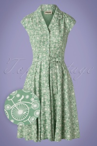 Circus 60s Penny Dress in Vintage Green
