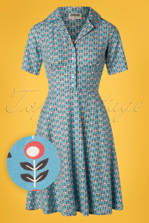 1960s Dresses – A Rainbow of 50 Dresses (Pictures) 60s Stem Swing Dress in Sky Blue �61.78 AT vintagedancer.com