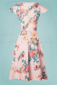 Vintage Chic 28767 Pink Floral Dress 20190312 020W