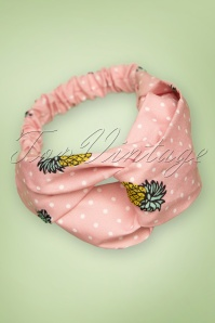 Banned Retro  50s Pina Colada Head Band in Pink