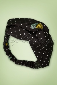 50s Pina Colada Head Band in Black