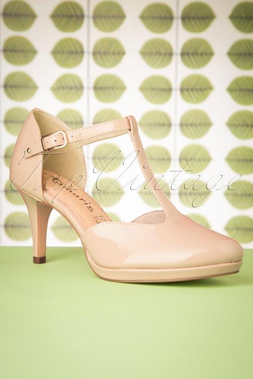 Tamaris 27836 T strap Nude Roze Heels 20190315 006W