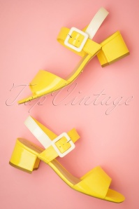60s Trina Sandals in Sunshine Yellow