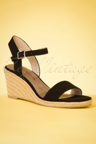 60s Winnie Wedges in Black