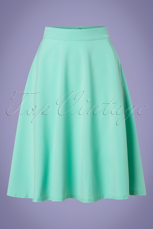 Steady Clothing 28911 High Waist Mint Green Skirt 20190320 002W