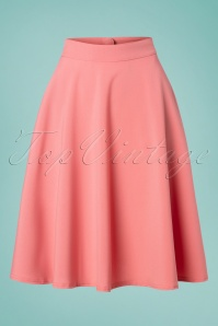 50s Thrills Swing Skirt in Blush