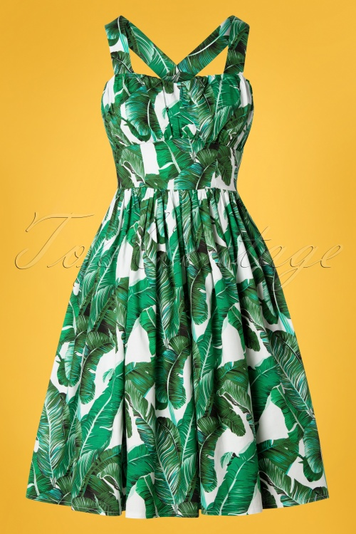 Banned 30114 Tropical Leaf Dress 20190320 001W